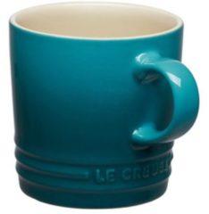 Blauwe LE CREUSET - Aardewerk - Koffiebeker 0,20l Deep Teal