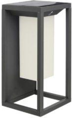 Zwarte LED Solar Wandlamp met Schemerschakelaar Samsung 2 Watt 3000K Max. 8 Branduren
