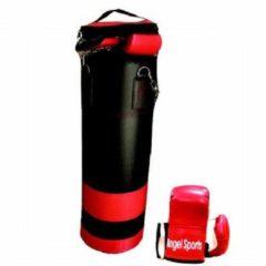 Engelhart Angel Sports Bokszak met Handschoenen - Zwart/Rood