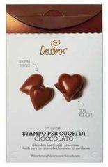 Transparante Chocolade mal hartjes - Decora