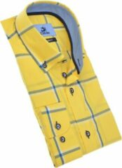 Culture Heren Lange Mouw Overhemd - 215316-Modern Geel (Maat: L)