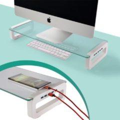 Groene Greenure monitor standaard – 4 USB poorten – tot 16 kg