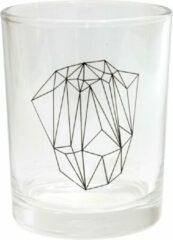 Transparante TAK Design Drinkglas Rock Diamond - Glas - Ø7 x 9 cm - Diamand