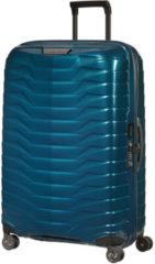 Blauwe Samsonite Proxis spinner 75 cm petrol blue