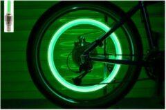 Groene New Age Devi Spaakverlichting - LED spaaklicht - kleurrijke spaaklampen - fietslamp - wielverlichting - 2 Stuks- kinderfiets