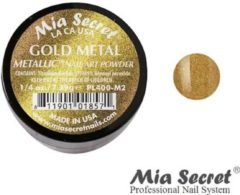 Gouden Mia Secret Metallic Acrylpoeder Gold Metal