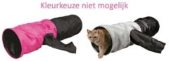 Trixie speeltunnel kat assorti 115x30x30 cm Roze