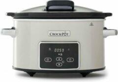 Creme witte Crock-Pot Slowcooker - Creme - Digitaal - 3,5L