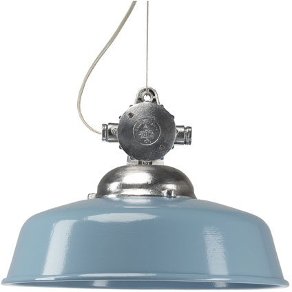 Afbeelding van KS Verlichting Hanglamp Detroit Industry retro blauw KS 6587