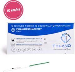 Telano Thuistestenkopen.nl 6 stuks Vroege Zwangerschapstest strips - Dipstick - Betrouwbaar en Nauwkeurig