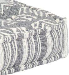 VidaXL Palletbankkussen stof patchwork grijs