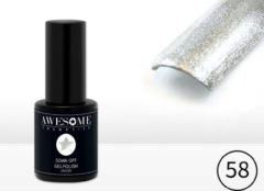 Awesome #58 Zilver Gelpolish - Gellak - Gel nagellak - UV & LED
