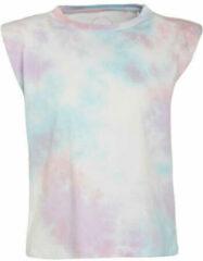 Only tie dye top onlamy geel blauw roze