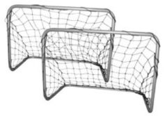 Sporttrader Voetbaldoeltjes - Voetbalgoaltjes Set - 78 x 56 x 45 cm - Grijs