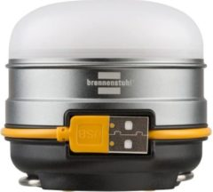 Brennenstuhl 1171540 Oli 0300 A LED Campinglamp 350 lm werkt op een accu Zilver, Zwart, Geel