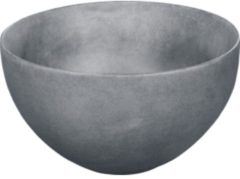 Donkergrijze Looox Sink Ceramic Raw Small Waskom / fontein 23cm donker grijs WWKS23DG