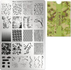 Groene Moyra Nail Art Stamping Plate 98 - Texture 2
