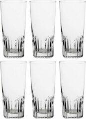Transparante Bellatio Design 24x Stuks vaasjes bierglazen 330 ml - Bierglazen - Vaasjes - Glazen voor bier