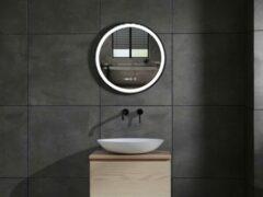 Mawialux LED spiegel   50cm   Rond   Verwarming   Digitale klok   ML-50LS-R