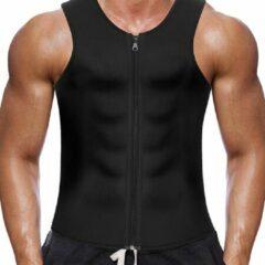 LaFaja For Men - Afslank Vest - Ritssluiting - Neopreen - Zwart - Maat XL