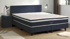Witte Hotelbox Sleepy Scandinavian Lederlook-180-200-Pegaso Dark Blue lederlook
