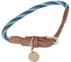 Lief! Lifestyle Lief! halsband voor hond boys blauw / bruin 55x1 cm