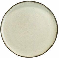 Creme witte Kitchen trend - servies - Gebakbord- Creme Ocean - porselein - set van 4 - rond 19 cm