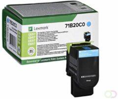 Lexmark 71B20C0 Lasertoner 2300pagina's Cyaan toners & lasercartridge