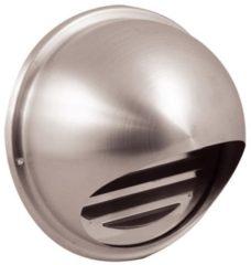 Nedco Bol ventilatierooster diepte 12,5cm kanaaldiameter 15cm, RVS