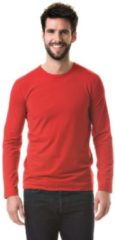 Basic stretch shirt lange mouwen/longsleeve wit voor heren 2XL (44/56)