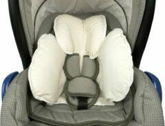 Witte Nagui Autostoel Verkleinkussen - Verkleinkussen Maxi Cosi - Baby Ondersteuning Kussen - Stof - Sweet White