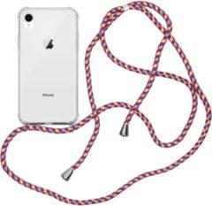Transparante IMoshion Backcover met koord iPhone Xr hoesje - Paars