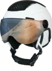 Grijze STX Helmet Visor White/Grey Skihelm - White - Unisex - Maat M