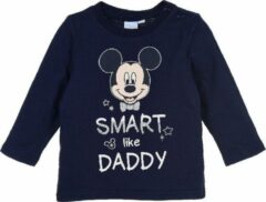 Marineblauwe Disney Mickey Mouse longsleeve maat 80