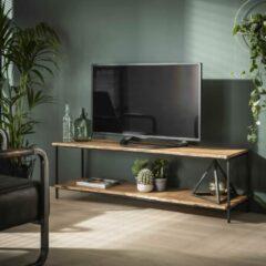 Zwarte Livin24 Industriële TV meubel Alan acaciahout 150 x 45