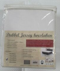 Merkloos / Sans marque DUBBEL JERSEY HOESLAKEN   180X200CM   WIT   200GR/M²