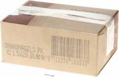 Klusgereedschapshop Draadnagel platkop blank 1.5 x 20mm 5kg