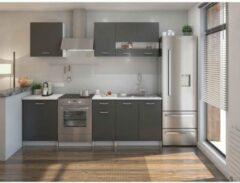 Andere EXTRA Complete keuken met werkblad L 240 cm - Mat grijs