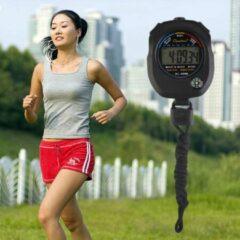 Zwarte Merkloos / Sans marque Digitale Stopwatch Timer Met Alarm Functie & Ingebouwd Kompas