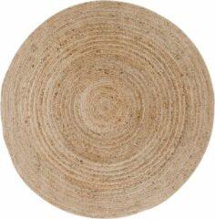 Hioshop Broom vloerkleed Ø180 cm in jute natuur.