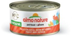 Almo Nature Hfc Cat Natural Blik 70 g - Kattenvoer - Kip&Pompoen Classic - Kattenvoer
