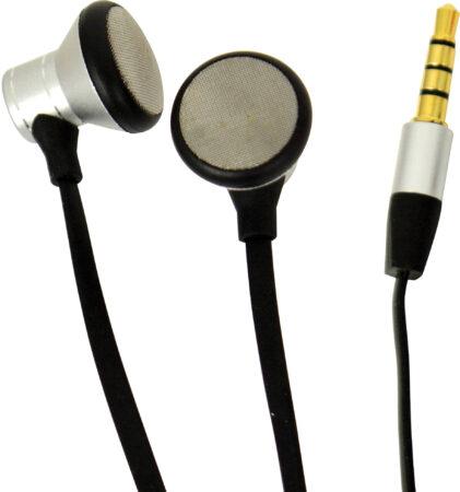 Afbeelding van Carpoint oordopjes met microfoon zilver/zwart 120 cm