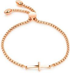 Roze Cilla Jewels Dames Armband met Schuifsluiting en Kruis Rose