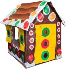 Bruine Bazoongi Kids Speeltent Gingerbread House 60 X 37 X 17 Cm
