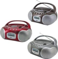 Soundmaster SCD4200 Stereo DAB+/UKW PLL-Radio mit CD und AUX-In, versch. Farben Farbe: Titan/Grau