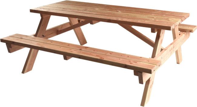 Afbeelding van Koopjetuinspul Douglas picknicktafel 180cm , opklapbare banken