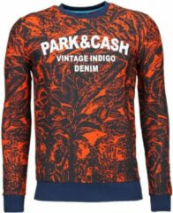 Black Number Park&Cash - Sweater - Oranje Sweaters / Crewnecks Heren Sweater Maat M