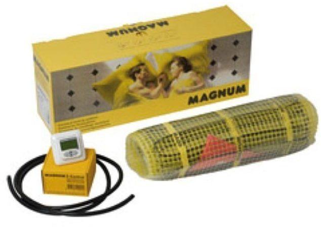 Afbeelding van Gele Magnum Millimat elektrische vloerverwarming 375 watt, 2,5 m2 met klokthermostaat 200505