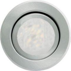 Runde LED-Einbauleuchte Joanie, aluminium geb.