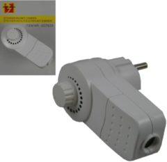 Witte Bellson Stekker met ingebouwde dimmer 10 x 8 cm - stekkerdimmers / stopcontacten